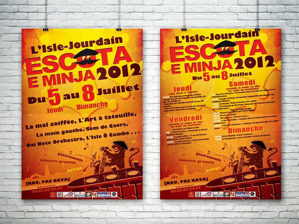 Affiche Escota E Minja 2012