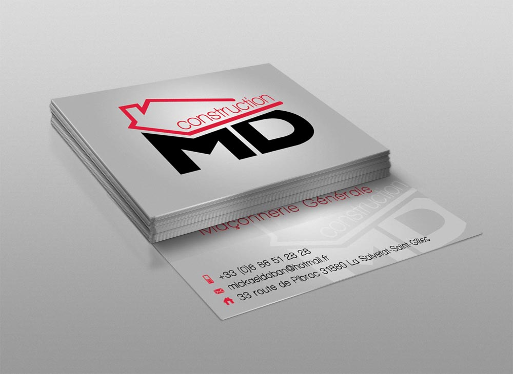 Logo/Carte de visite MD Construction
